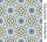 talavera pattern. azulejos... | Shutterstock .eps vector #1391207351