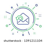 send mail download line icon....   Shutterstock .eps vector #1391211104