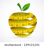 Apple And Measuring Tape  Diet...