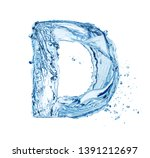 Blue Water Splash Alphabet...