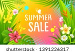summer sale banners vector... | Shutterstock .eps vector #1391226317