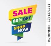 vector sale banner template... | Shutterstock .eps vector #1391271311