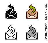 reply email icon in different...   Shutterstock .eps vector #1391277407