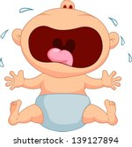 baby crying | Shutterstock .eps vector #139127894