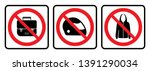 bags not allowed icon full face ... | Shutterstock .eps vector #1391290034