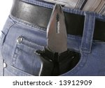flat nose pliers in the pocket... | Shutterstock . vector #13912909