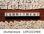 commitment word concept on cubes | Shutterstock . vector #1391321984