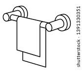 hand towel rail. vector outline ... | Shutterstock .eps vector #1391330351