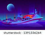 night party on future floating...   Shutterstock .eps vector #1391336264