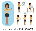 set of working people on white... | Shutterstock .eps vector #1391336477