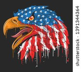 eagle independence usa flag...   Shutterstock .eps vector #1391344364