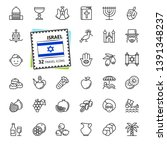 israel   minimal thin line web... | Shutterstock .eps vector #1391348237