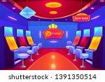 casino interior  empty gambling ... | Shutterstock .eps vector #1391350514
