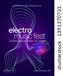 techno event. dynamic gradient... | Shutterstock .eps vector #1391370731