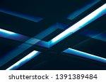 cross of lighting fixtures on... | Shutterstock . vector #1391389484