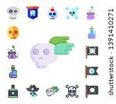 piracy icon set. 17 flat piracy ...   Shutterstock .eps vector #1391410271