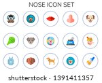 nose icon set. 15 flat nose... | Shutterstock .eps vector #1391411357