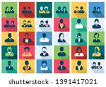 avatars flat icons set   men... | Shutterstock .eps vector #1391417021