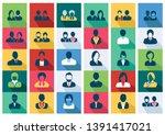 avatars flat icons set   men...   Shutterstock .eps vector #1391417021