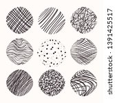hand drawn linear  stippling... | Shutterstock .eps vector #1391425517