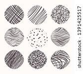 hand drawn linear  stippling... | Shutterstock .eps vector #1391425517
