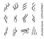 smell signs black thin line... | Shutterstock . vector #1391429867