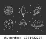 hand sketched planets. hand... | Shutterstock .eps vector #1391432234