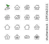 set of house vector line icons. ... | Shutterstock .eps vector #1391462111