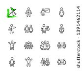 set of people vector line icons.... | Shutterstock .eps vector #1391462114