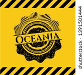 oceania inside warning sign ... | Shutterstock .eps vector #1391501444
