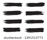brush stroke set isolated on... | Shutterstock .eps vector #1391513771