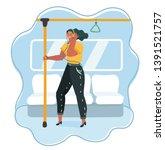cartoon vector illustration of... | Shutterstock .eps vector #1391521757