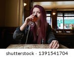 Emo Girl Drinking Alone In The...
