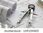 blueprints and drawing tools... | Shutterstock . vector #139154405