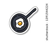 scrambled eggs doodle icon ... | Shutterstock .eps vector #1391544224