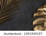 closeup of golden palm and... | Shutterstock . vector #1391545157