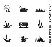 grass icons set   isolated on... | Shutterstock .eps vector #1391545487