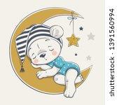 vector illustration of a cute... | Shutterstock .eps vector #1391560994