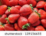 set in a box of strawberries... | Shutterstock . vector #139156655
