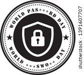 round stamp print for world... | Shutterstock .eps vector #1391607707