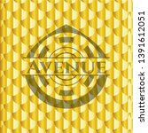 avenue gold shiny badge. scales ...   Shutterstock .eps vector #1391612051