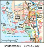 fort myers  florida area map | Shutterstock .eps vector #139162139