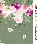 seamless summer pattern with... | Shutterstock . vector #1391650004