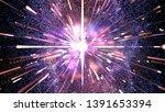 digital dark blue abstract... | Shutterstock . vector #1391653394