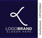 k letter line logo vector...   Shutterstock .eps vector #1391654864