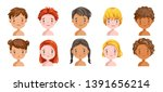 boys and girls set sadly...   Shutterstock .eps vector #1391656214