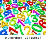 background of numbers. from... | Shutterstock . vector #139165697
