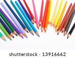 color pencils  on white... | Shutterstock . vector #13916662