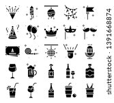 party icons pack. isolated...