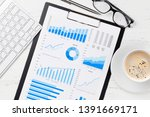 office workplace table with...   Shutterstock . vector #1391669171